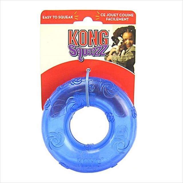 brinquedo kong squeezz ring - azul brinquedo kong squeezz ring psr2 azul - médio