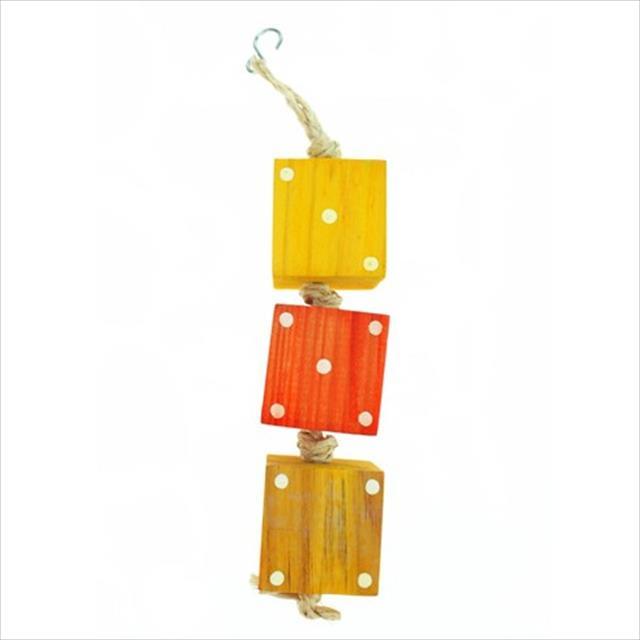 brinquedo mobile de dados - laranja com amarelo