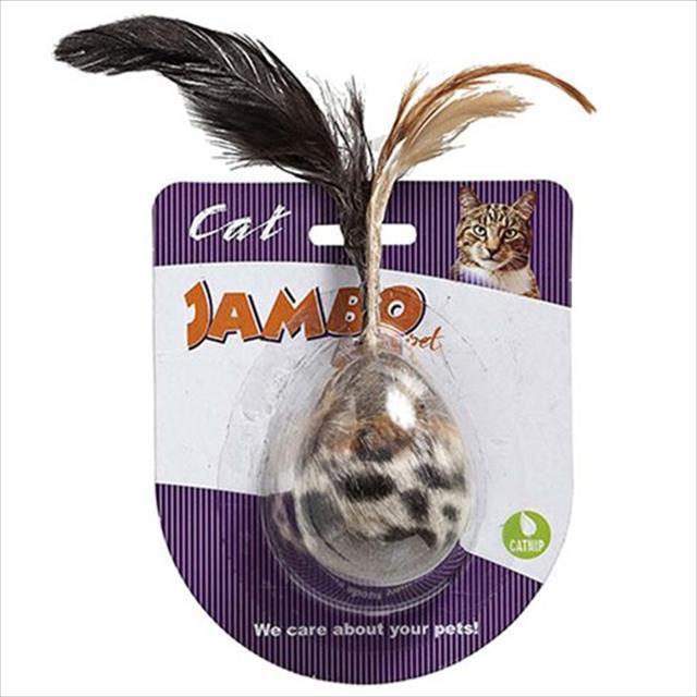 brinquedo mordedor jambo egg de pelúcia com catnip para gatos