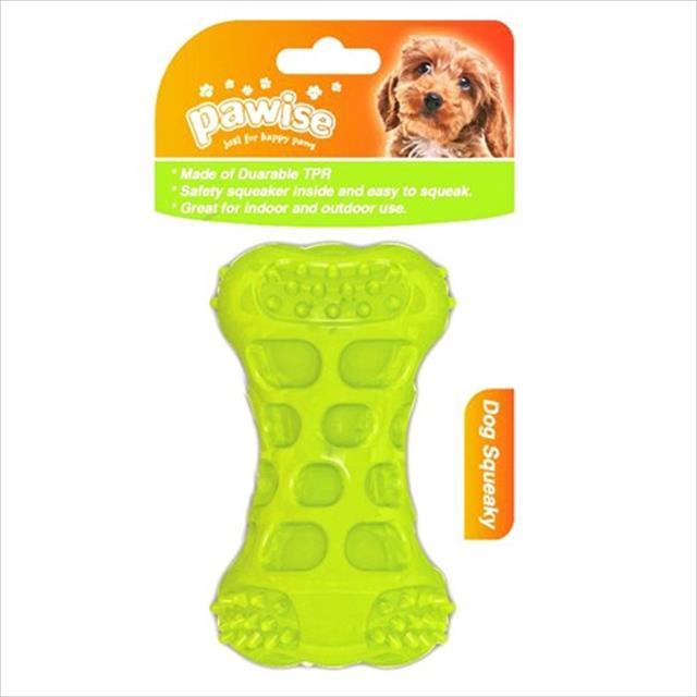 brinquedo pawise osso de borracha com apito  - verde brinquedo pawise osso de borracha verde com apito - pequeno