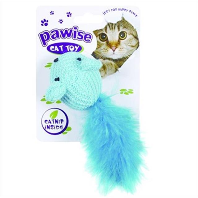brinquedo pawise rato em lã com rabo felpudo - azul