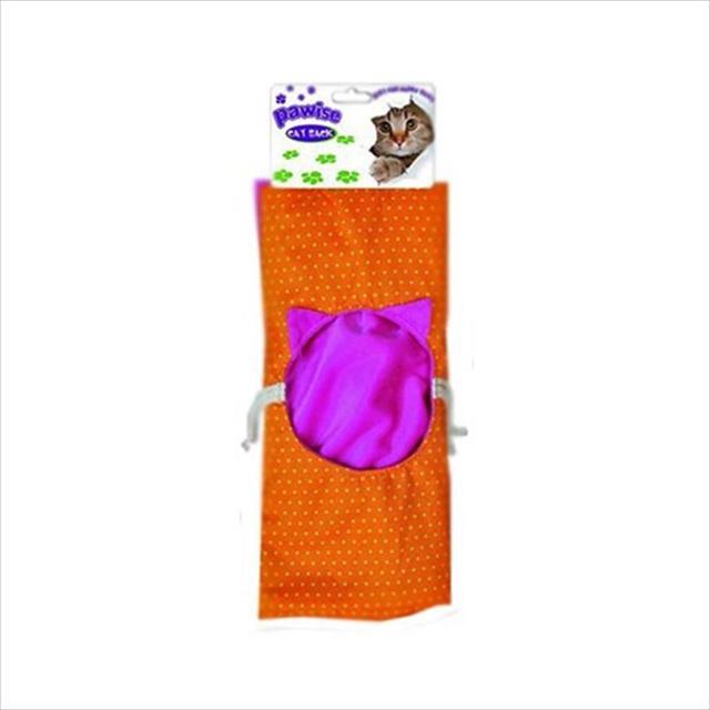 brinquedo pawise saco com estralos para gatos - laranja