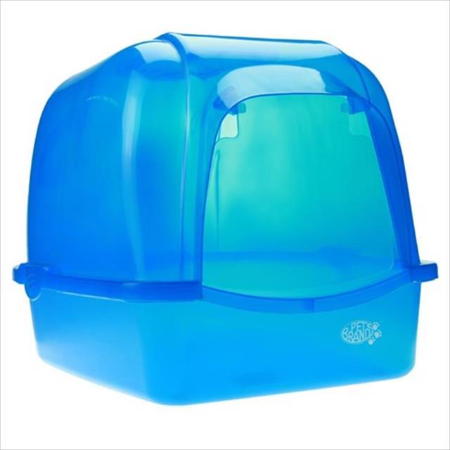 caixa de areia duki oval translucida com telhado - azul