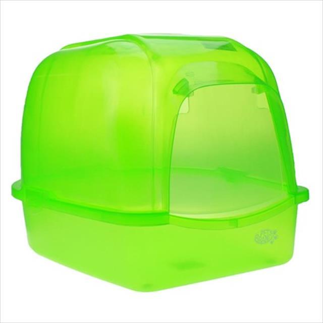 caixa de areia duki oval translucida com telhado - verde