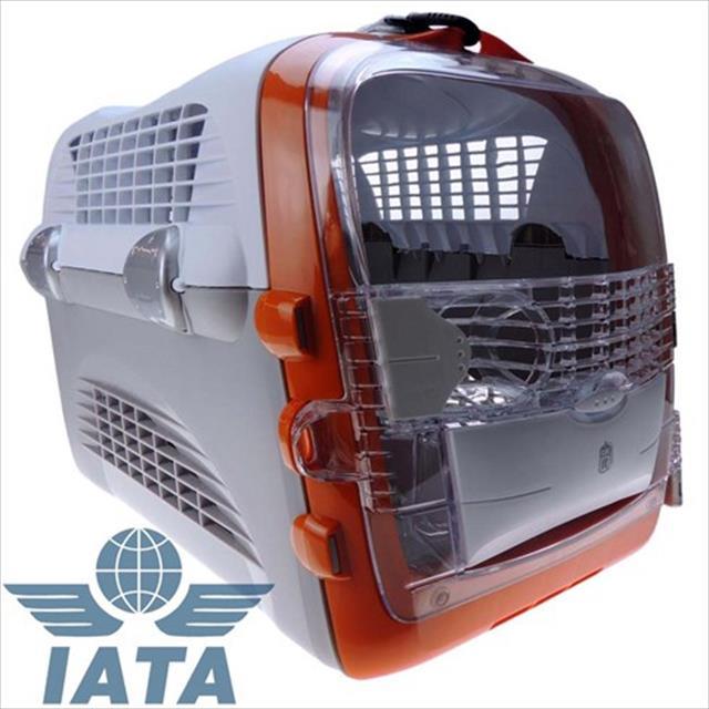 caixa de transporte cat it cabrio - cinza com laranja