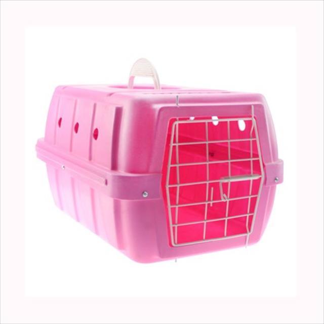 caixa de transporte clicknew com rodas rosa - n. 03