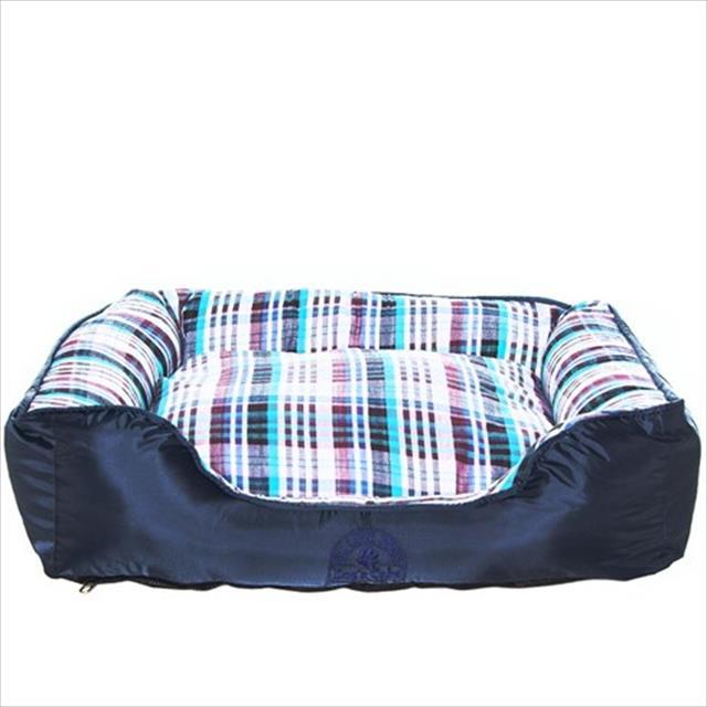 cama dog's care quadrada - azul cama dog's care quadrada azul - tam. g
