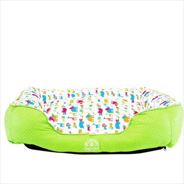 cama dog's care quadrada de algodão fun - verde cama dog's care quadrada de algodão fun verde - tam. p