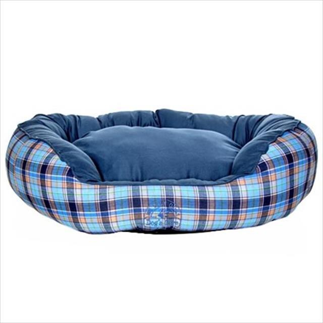 cama dog's care redonda algodão - azul cama dog's care redonda algodão azul - tam. p