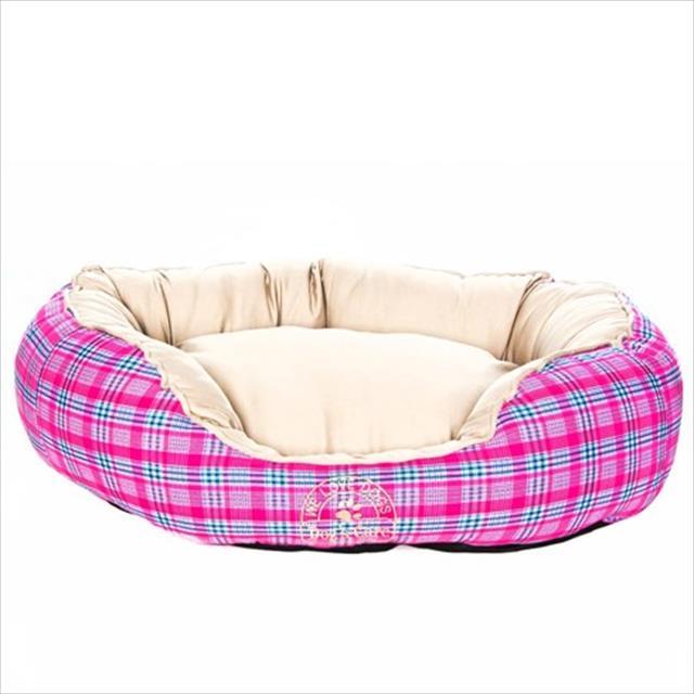 cama dog's care redonda algodão - rosa cama dog's care redonda algodão rosa - tam. p