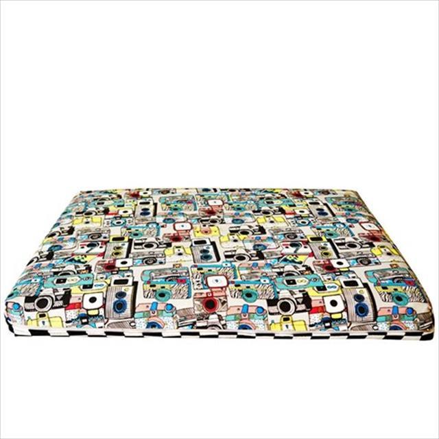 colchonete duo futon dog com zíper e tecido repelente de líquidos - photo e xadrez colchonete duo futon dog com zíper e tecido repelente de líquidos photo e xadrez - tam gg