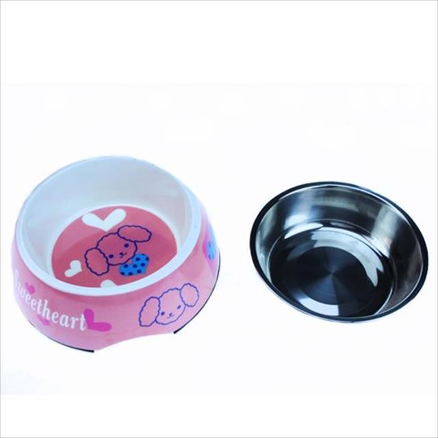 comedouro american pets color premium - rosa comedouro american pets color premium rosa - tam m