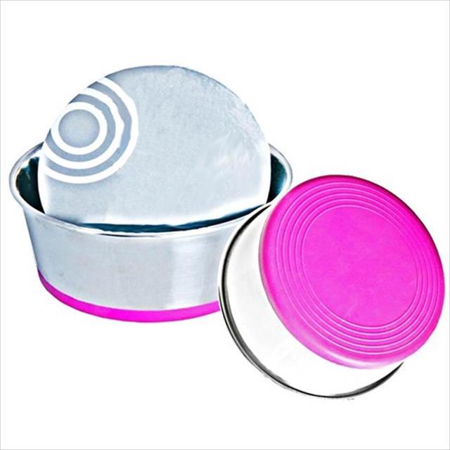 comedouro rogz slurp em aço inox - rosa comedouro rogz slurp em aço inox rosa - grande