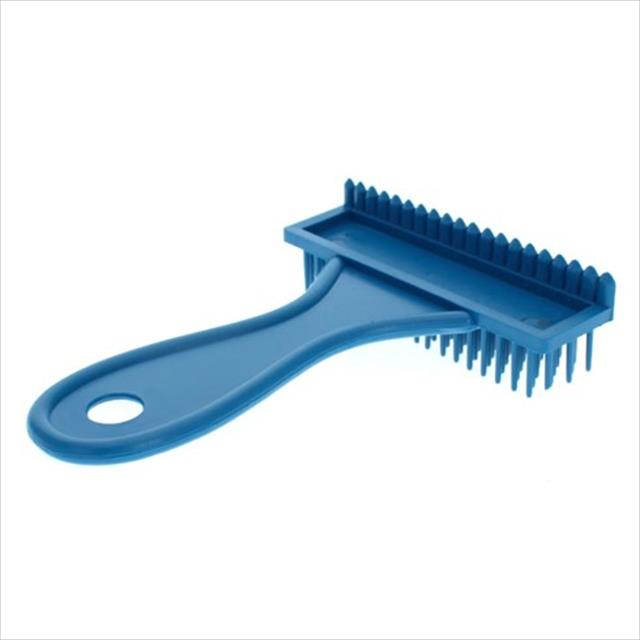 escova plástico rastelo alta - azul