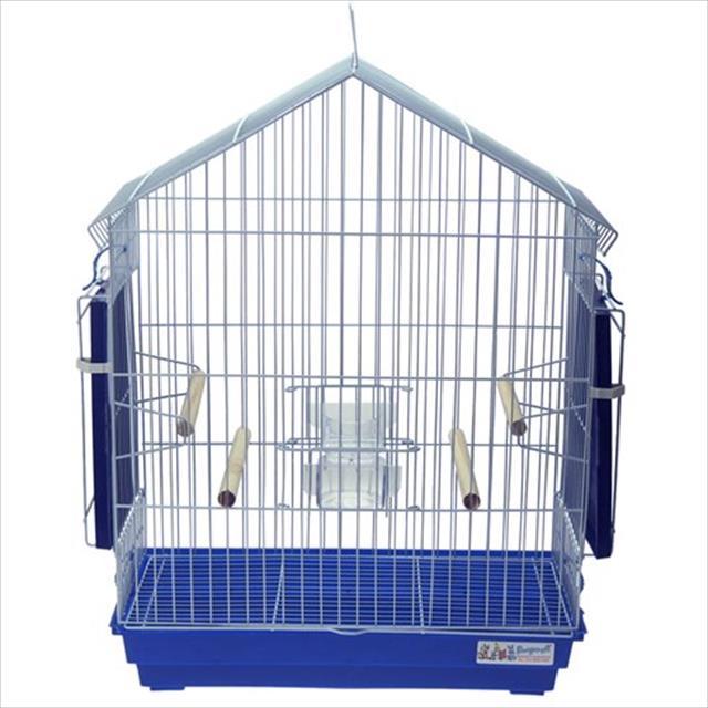 gaiola para calopsita mansa - branco e azul