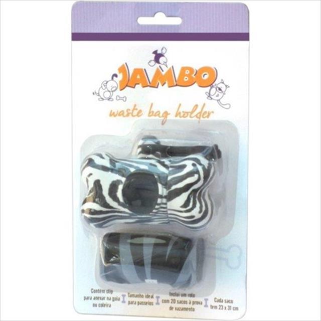kit jambo porta saquinho de coletar fezes - preto zebra