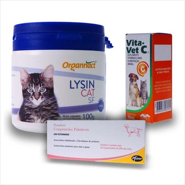 kit tratamento respiratório - ong adote um gatinho