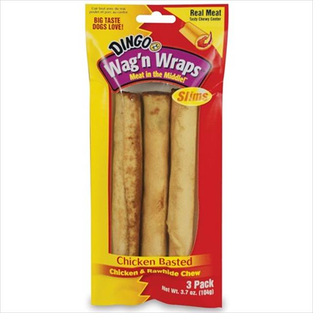 osso dingo wag'n wrap chicken slims - 104 gr