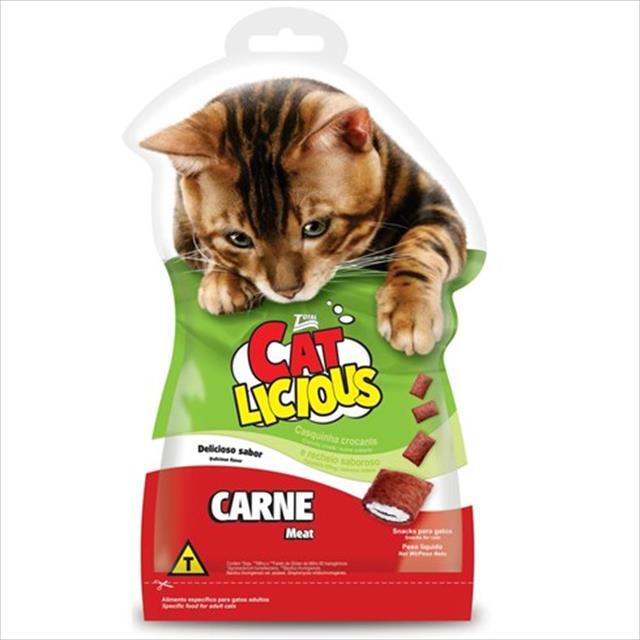 petisco total cat licious carne - 40gr