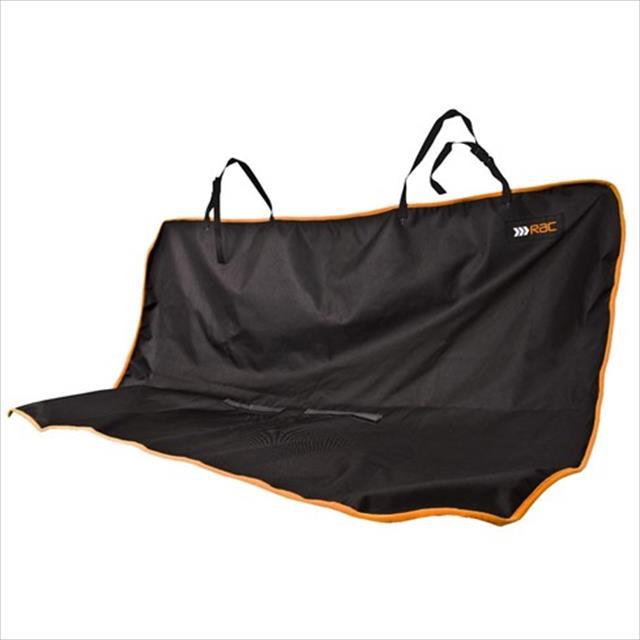 proteção duki para banco do carro rac - preto com laranja