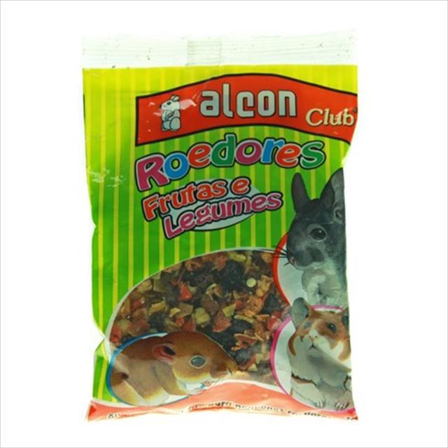 ração alcon club roedores sabor frutas e legumes - 75gr