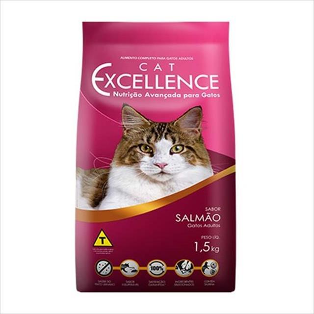 ração cat excellence para gatos adultos - salmão - 1,5 kg