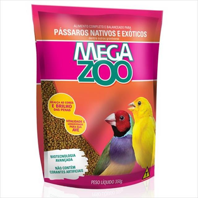 ração extrusada para pássaros nativos e exóticos megazoo - 350gr