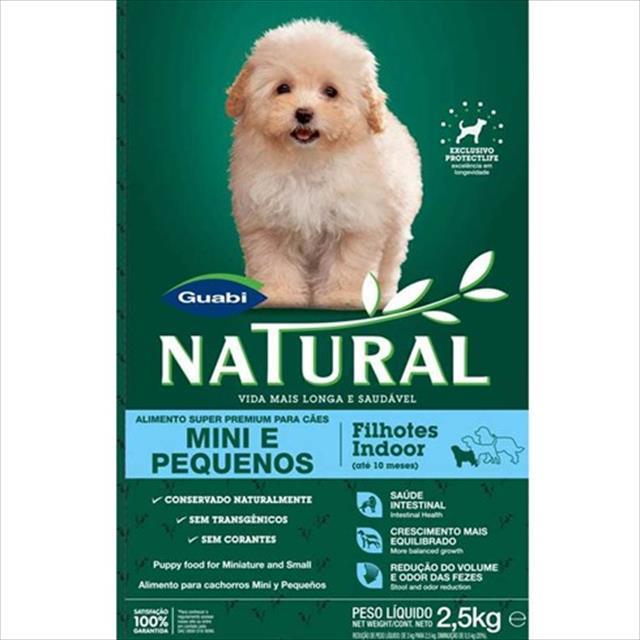 ração guabi natural cães crescimento raças mini e pequenas indoor - 1kg