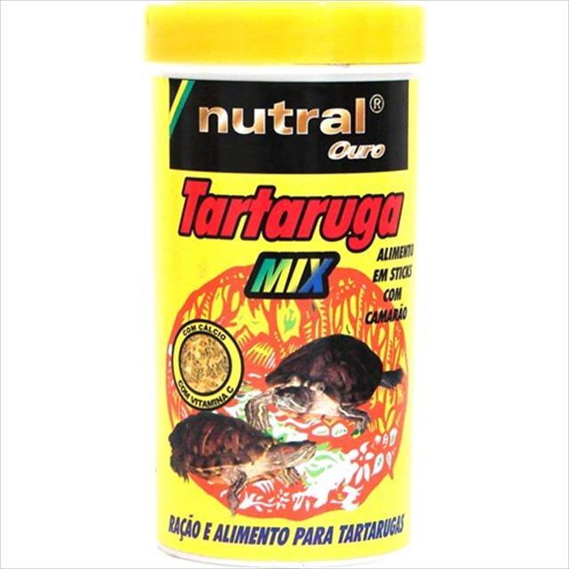 ração nutral ouro tartaruga mix com camarão - 50gr