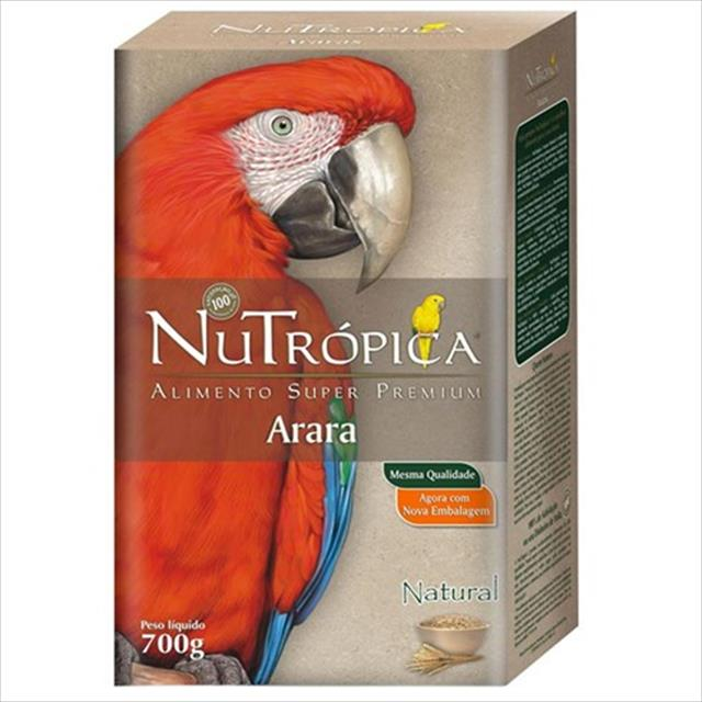 ração nutrópica natural para arara - 700gr