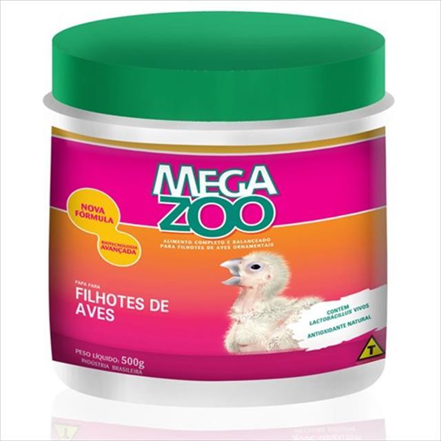 ração papa para filhotes de aves megazoo - 500gr