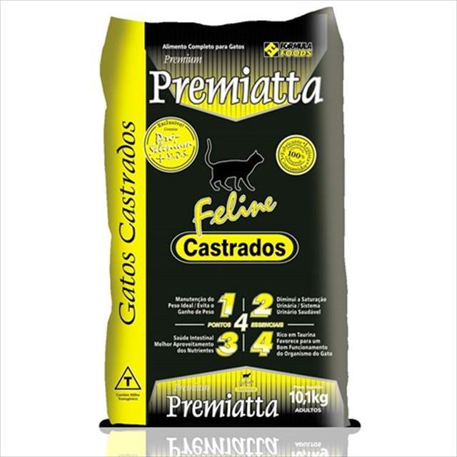 ração premiatta feline para gatos castrados - 10,1kg