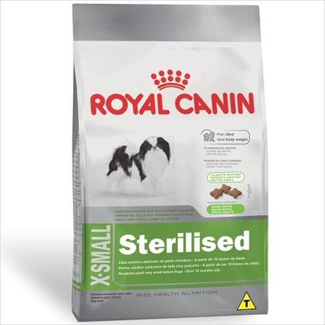 ração royal canin x-small sterilised para cães adultos de raças miniaturas com 10 meses ou mais ração royal canin x-small sterilised para cães adultos de raças mini a partir de 10 meses - 1 kg