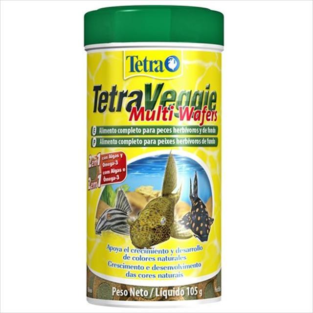 ração tetra veggie multi wafers - 105gr