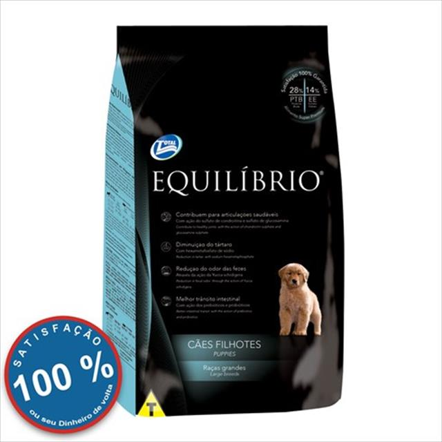 ração total equilíbrio para cães filhotes de raças grandes - 15kg