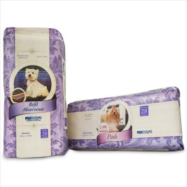 refil pipi dollys absorvente pacote - 28 unidades