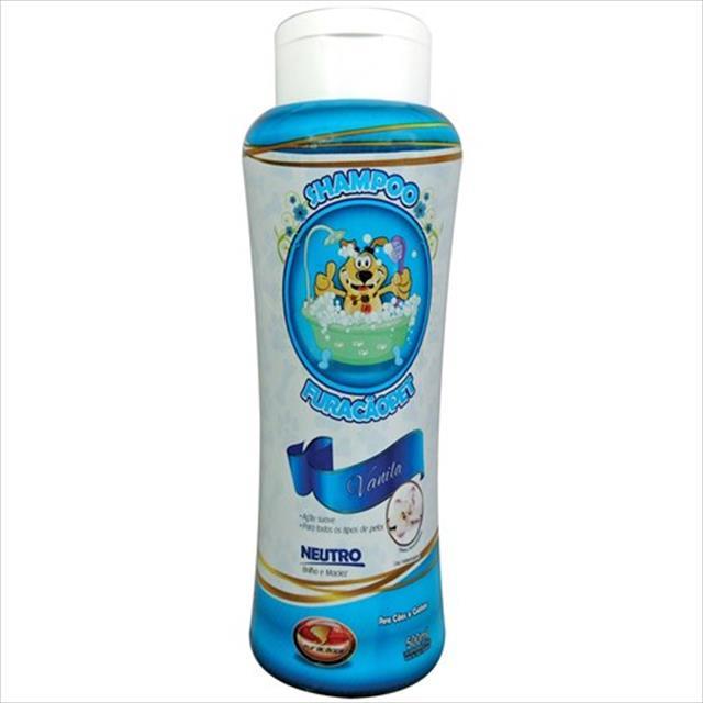 shampoo furacão pet vanila neutro - 500ml