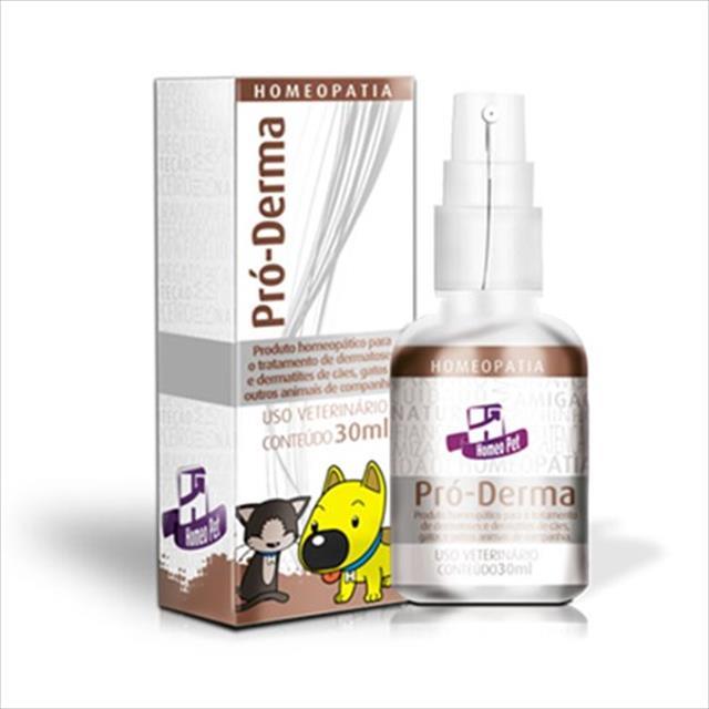 sistema de terapia homeopet alergias de pele pró-derma - 30ml