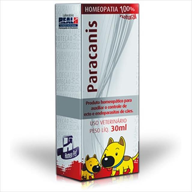 sistema de terapia homeopet antiparasitário para cães paracanis - 30ml