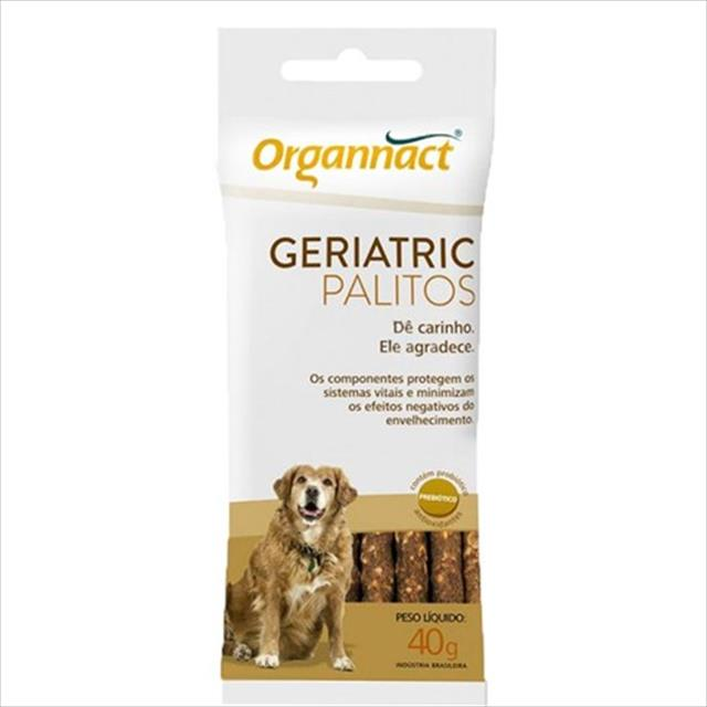 suplemento organnact geriatric palitos - 40 g