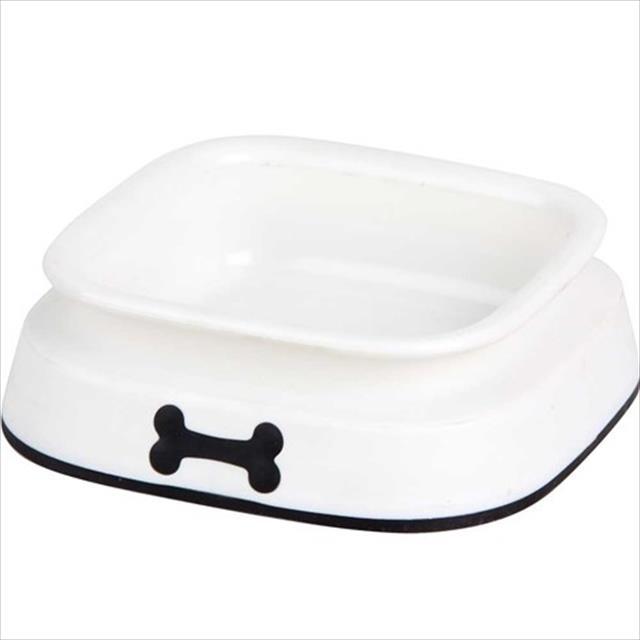 comedouro prato plástico pawise branco para cães e gatos - 950 ml
