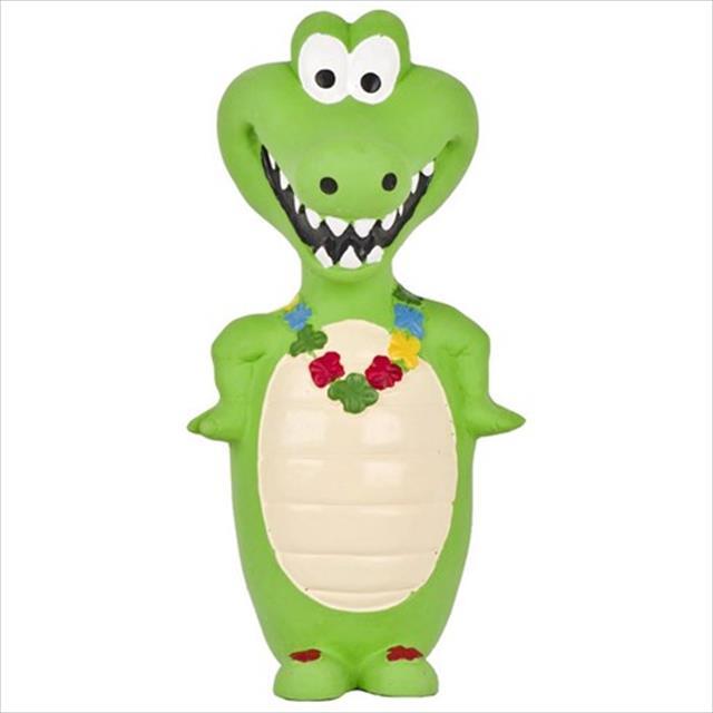 brinquedo duki crocodilo de latex go wild - verde