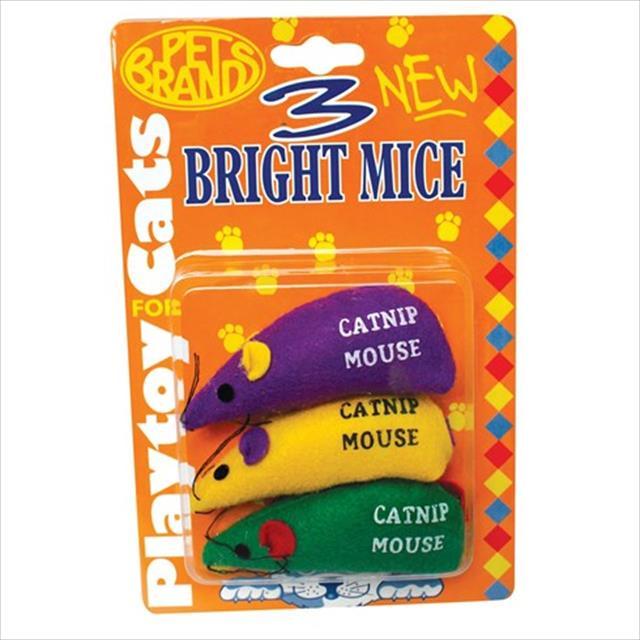 brinquedo três ratos brilhantes com catnip