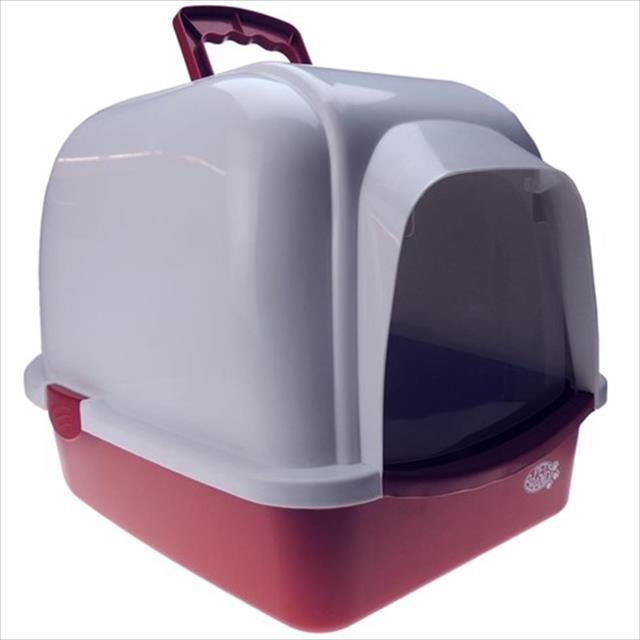 caixa de areia oval com telhado - vermelho