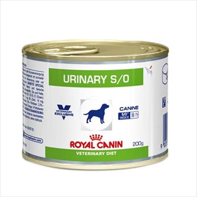 ração royal canin lata canine veterinary diet urinary s/o - 200 g