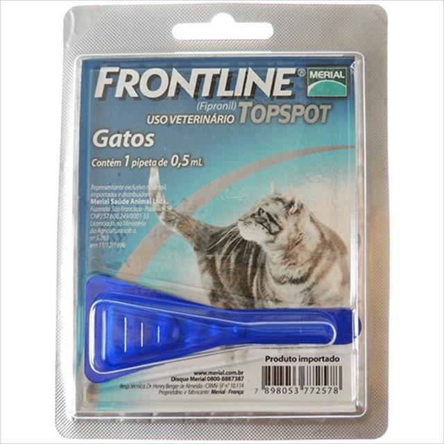 anti pulgas e carrapatos frontline top spot para gatos - 1 unidade