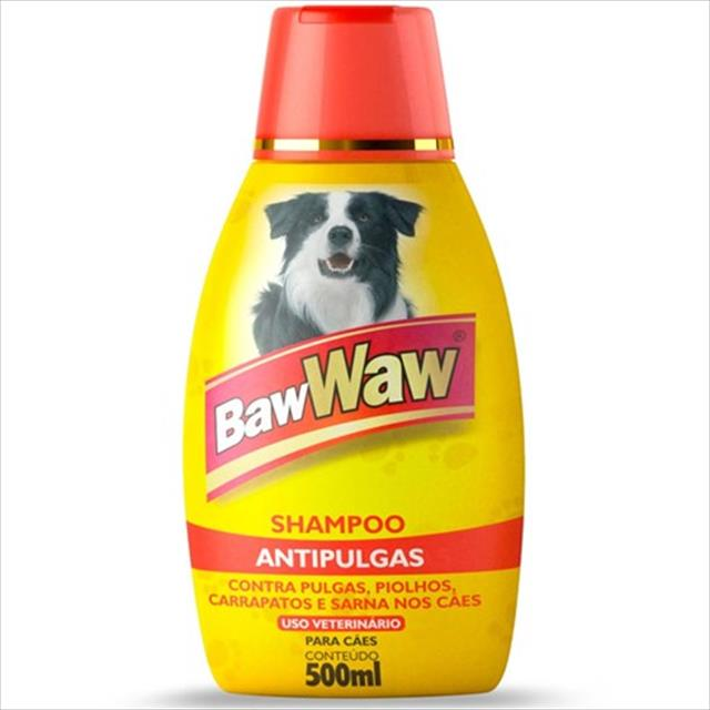 shampoo baw waw anti pulgas - 500 ml