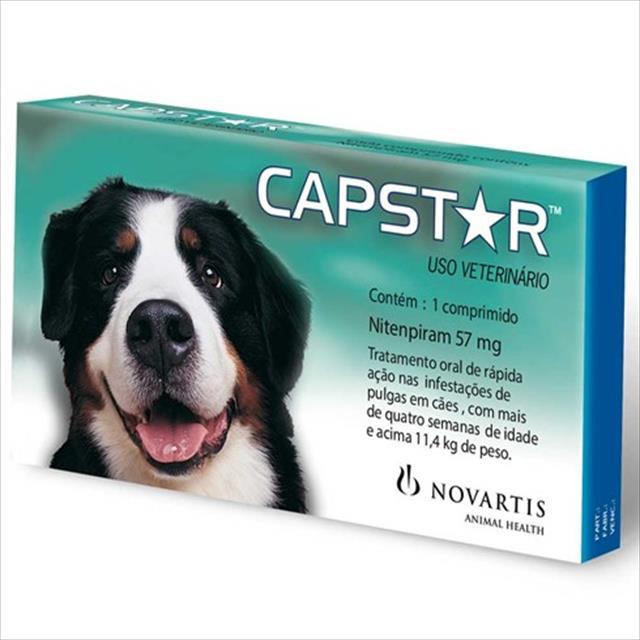 anti pulgas novartis capstar de 57 mg com 1 comprimidos para cães - 11 a 57 kg