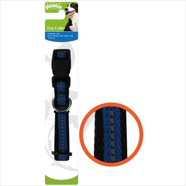 coleira pawise azul refletiva para cães coleira pawise azul refletiva - tam. g