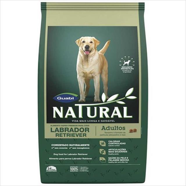 ração guabi natural cães adulto labrador - 12 kg